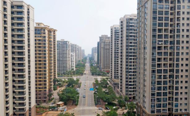 航拍海口新行政中心:新城高楼林立 尽显都市风范