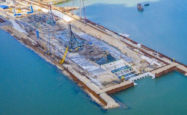 瞰海南·聚焦重点项目 | 海口文明东越江通道加速推进 总工程量完成近半